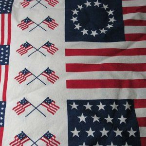 Other - Patriotic Sewing Fabric USA Flags
